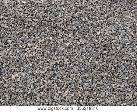 Crushed Small Stones On The Ground Texture Background