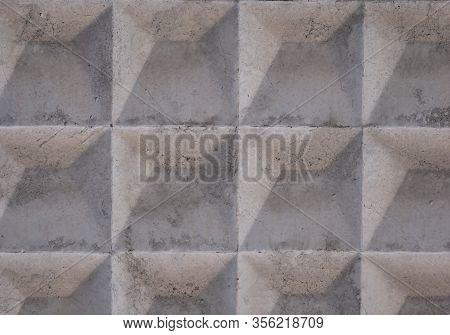 Soviet Concrete Fence Texture Diamond Pattern , Patterned Concrete Fence Texture