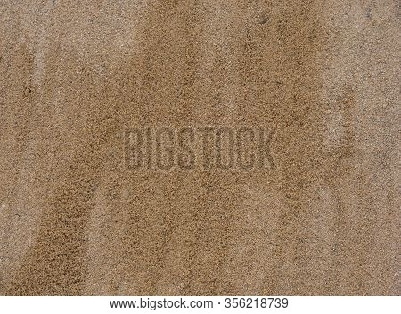 Wet Yellow Sand, Yellow Sand Surface Texture, Construction Cement Sand