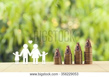 Planning For A Secure Future And Financial Status And Mitigating Taxes Concept : Family Members, Us