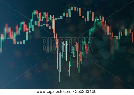 Falling Stock Markets, Stocks For Coronavirus , Financial Data On A Monitor Which Including Of Marke