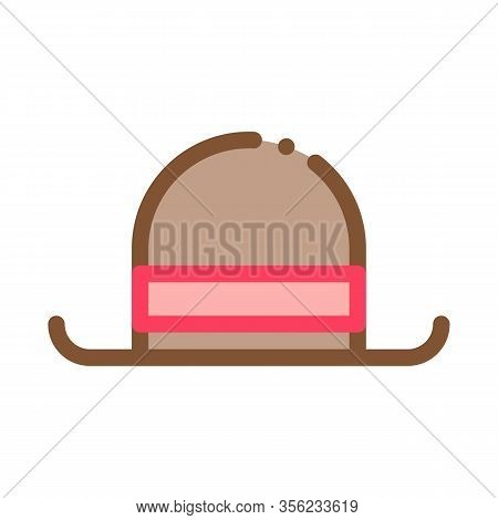 Bowler Hat Icon Vector. Outline Bowler Sign. Isolated Contour Symbol Illustration