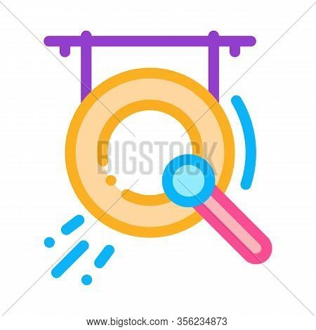 Gong Icon Vector. Outline Gong Sign. Isolated Contour Symbol Illustration