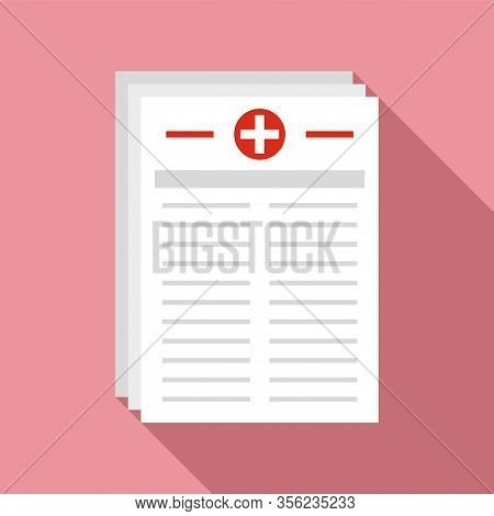 Medical Pharmacist Papers Icon. Flat Illustration Of Medical Pharmacist Papers Vector Icon For Web D