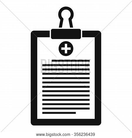 Pharmacist Clipboard Icon. Simple Illustration Of Pharmacist Clipboard Vector Icon For Web Design Is