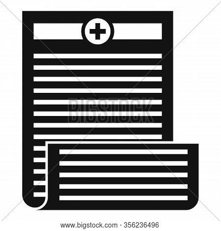 Pharmacist Prescription Icon. Simple Illustration Of Pharmacist Prescription Vector Icon For Web Des