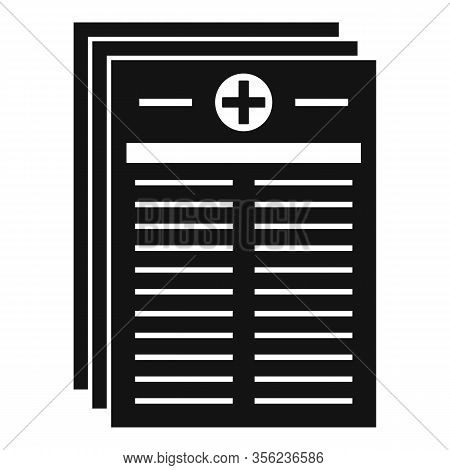 Medical Pharmacist Papers Icon. Simple Illustration Of Medical Pharmacist Papers Vector Icon For Web