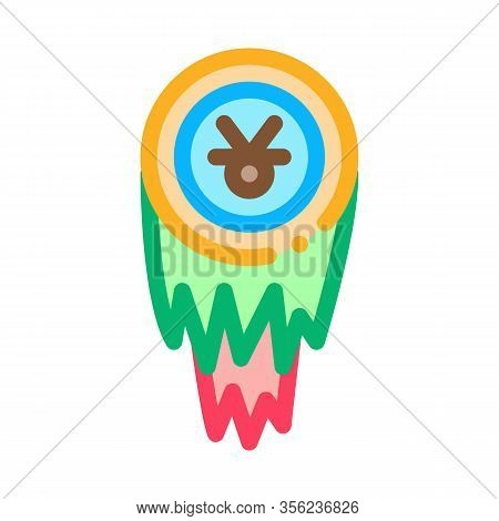 Holy Shaman Tambourine Icon Vector. Outline Holy Shaman Tambourine Sign. Isolated Contour Symbol Ill