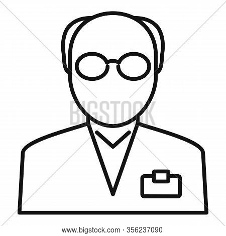 Old Pharmacist Icon. Outline Old Pharmacist Vector Icon For Web Design Isolated On White Background