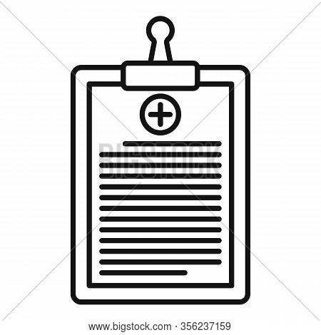 Pharmacist Clipboard Icon. Outline Pharmacist Clipboard Vector Icon For Web Design Isolated On White