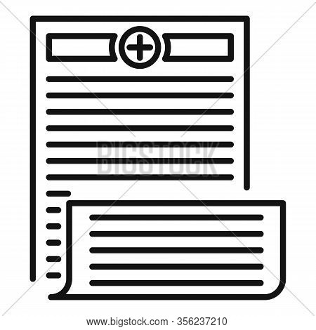 Pharmacist Prescription Icon. Outline Pharmacist Prescription Vector Icon For Web Design Isolated On