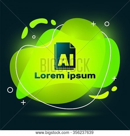 Black Ai File Document. Download Ai Button Icon Isolated On Black Background. Ai File Symbol. Abstra