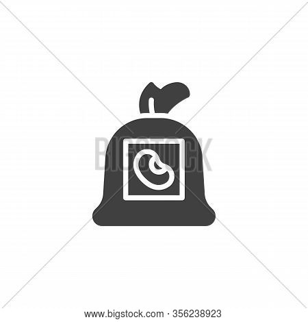 Bean Sack Vector Icon. Filled Flat Sign For Mobile Concept And Web Design. Kidney Beans Sack Glyph I
