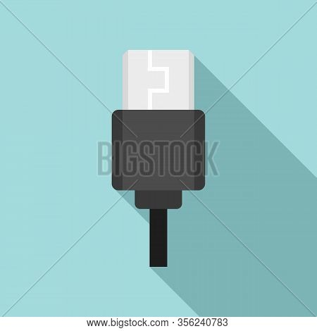 Type C Cable Icon. Flat Illustration Of Type C Cable Vector Icon For Web Design