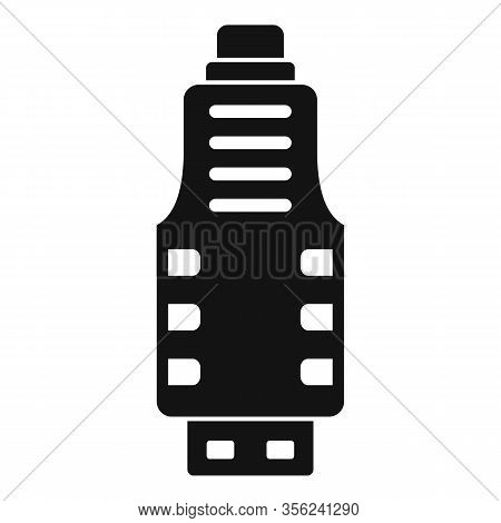 Micro Usb Adapter Icon. Simple Illustration Of Micro Usb Adapter Vector Icon For Web Design Isolated
