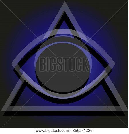Simple Illuminati Sign On The Gradient Background