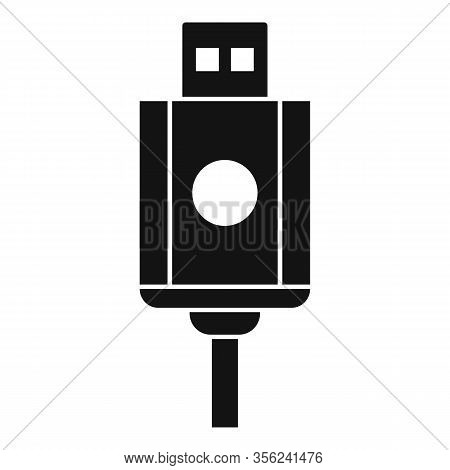 Usb Cable Icon. Simple Illustration Of Usb Cable Vector Icon For Web Design Isolated On White Backgr
