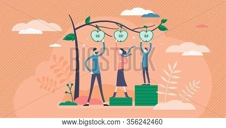 Equality Vector Illustration. Same Status Possibly Flat Tiny Persons Concept. Honest Different Socia