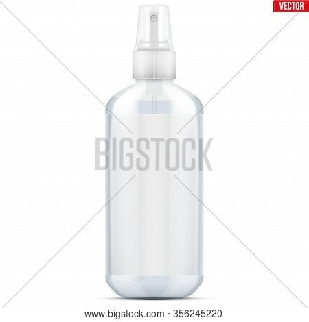 Sanitizer Bottle Spray With Gel. Disinfectant Bottle With Spray And Label. Safety In An Epidemic And