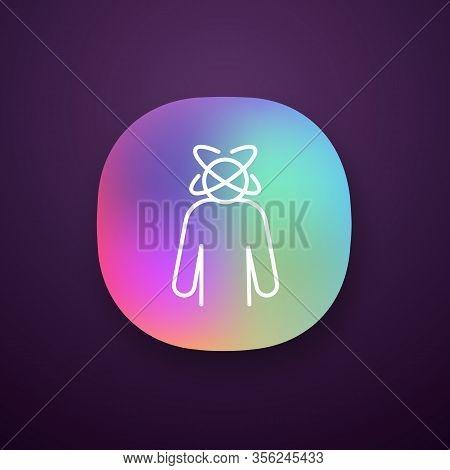 Dizziness App Icon. Person Feeling Dizzy. Physiological Stress Symptoms. Vertigo, Giddiness. Spinnin