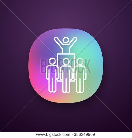 Protest Leader App Icon. Revolution. Protest Collective Actions. Political Behaviour. Political Spee