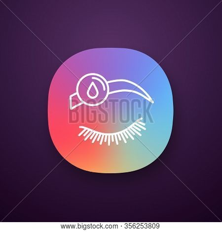 Makeup Removal App Icon. Ui Ux User Interface. Eyebrow Tint Removing. Brows Microblading Or Tattooin
