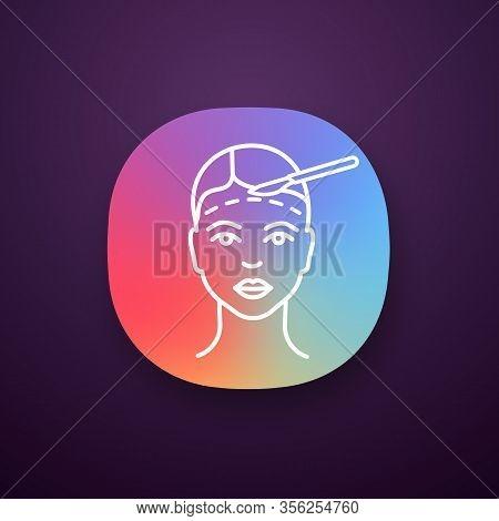 Facelift Surgery App Icon. Ui Ux User Interface. Facial Plastic Surgery. Surgical Facial Rejuvenatio
