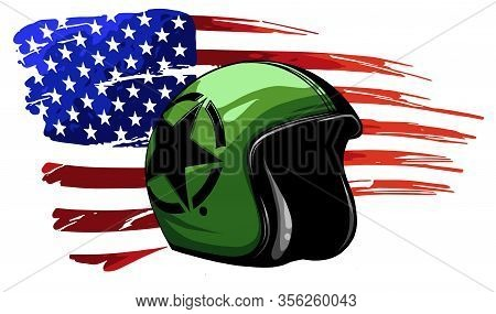 America Veteran Day, Memorial Day, Independence Day, Usa Flag Artwork