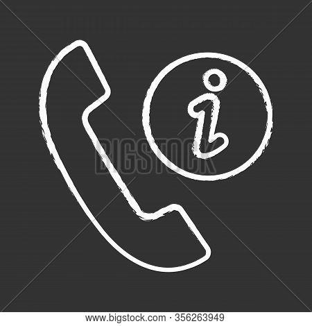 Infocenter Support Chalk Icon. Information Center. Hotline Support. Helpdesk. Call Center. Handset W