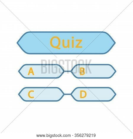 Quiz Question Color Icon. Intellectual Game. Trivia Contest. Set Of Questions. Isolated Vector Illus