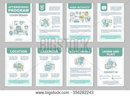 After School Program Brochure Template Layout. Afterschool Activities. Learn And Play. Flyer, Bookle