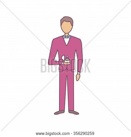 Marriage Proposal Color Icon. Man Holding Box With Ring. Fiance, Bridegroom. Engagement. Offer Of Ma