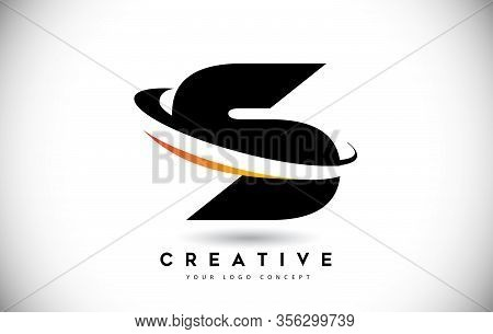 S, Swoosh, Curved, Rounded, Round, Cut, Logo, Letter, Design, Creative, Typography, Logo, Corporate,