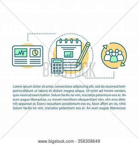 Business Analytics And Metrics Concept Illustration. Accounting And Bookkeeping. Business Budget Pla