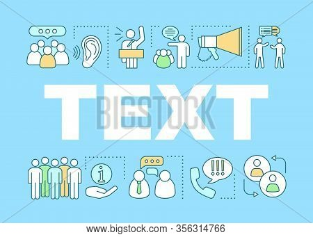 Oratory Skill Word Concepts Banner. Marketing Campaign. Your Text Here. Advertising. Public Speaking