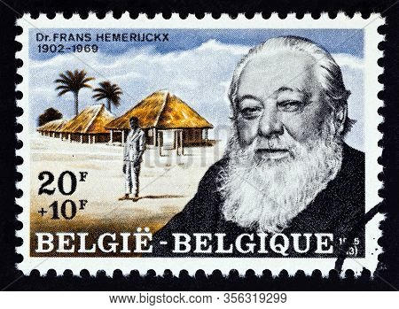 Belgium - Circa 1975: A Stamp Printed In Belgium Shows Flemish Leprologist Frans Hemerijckx, Circa 1