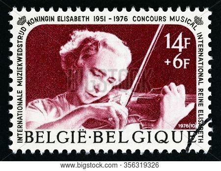 Belgium - Circa 1976: A Stamp Printed In Belgium Issued For The Queen Elizabeth Concours, Internatio