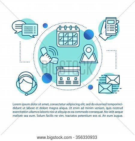 Call Center Concept Linear Illustration. Hotline. Helpline. Infocenter. Customer Support. Article, B