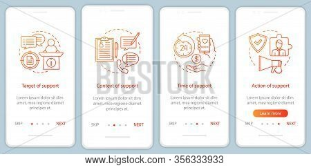 Csr Onboarding Mobile App Page Screen Vector Template. Corporate Social Responsibility. Social Licen