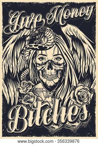 Chicano Tattoo Poster Vector Photo Free Trial Bigstock