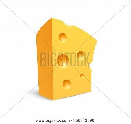 Cheese Icon, Chunk Of Swiss Maasdam Cheese