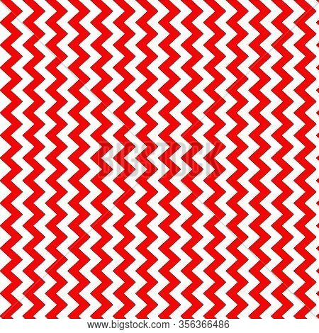 Red And White Chevron Pattern Background With The Chevrons Running Vertically.  12x12 Digital Paper