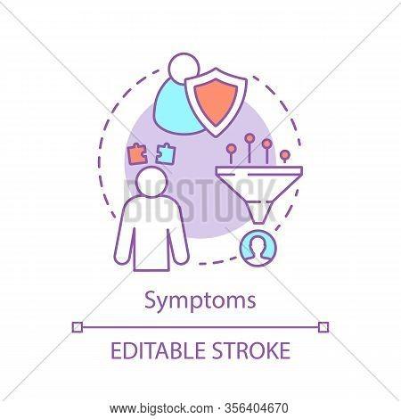 Symptom Concept Icon. Sickness Sign Indication Idea Thin Line Illustration. Immune System Fights Dis