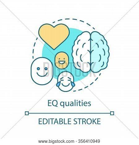 Eq Qualities Concept Icon. Emotion Management Idea Thin Line Illustration. Ability Control, Restrain