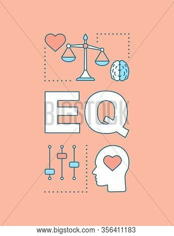 Eq Word Concepts Banner. Emotional Intelligence. Ability To Control Feelings. Emotion Management. Pr