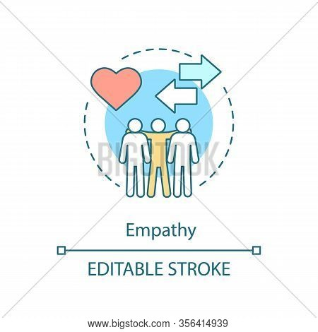 Empathy Concept Icon. Sensitivity, Togetherness, Friendship. Positive Feedback. Sympathy, Compassion