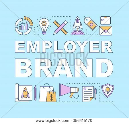 Employer Brand Word Concepts Banner. Employee Value Proposition. Company Reputation. Recruiting Proc