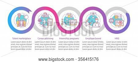Talent Management Vector Infographic Template. Career Marketplace. Business Presentation Design Elem