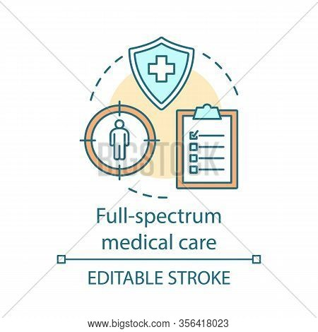 Full Spectrum Medical Care Concept Icon. Healthcare Services. Contract Between Doctor And Patient. H