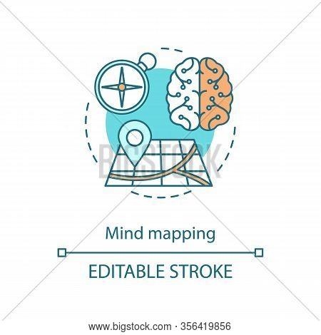Mind Mapping Concept Icon. Critical Thinking. Logical Reasoning. Analytical Skill. Objective Analysi